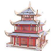 abordables -Puzzles 3D Puzzle Puzzles en bois Puzzles en Métal Kit de Maquette Maquettes de Bois Bâtiment Célèbre Architecture Chinoise compatible Métallique Legoing Créatif Cool A Faire Soi-Même Chic & Moderne