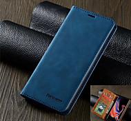 economico -telefono Custodia Per Samsung Galaxy Integrale Custodia in pelle Custodia flip S20 Plus S20 Ultra S20 S9 S9 Plus S8 Plus S8 Bordo S7 S7 S10 Porta-carte di credito Con chiusura magnetica Tinta unita