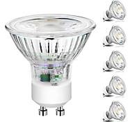 abordables -6 pcs dimmable led ampoule spot lumière 5 w cob gu10 / gu5.3(mr16) led spotlight 220 v pour la maison lampada lampe coque en verre