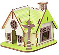 abordables -Puzzles Puzzles en bois Blocs de Construction Jouets DIY  Bâtiment Célèbre Architecture Chinoise Maison 1 Bois IvoireMaquette & Jeu de