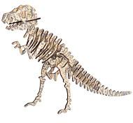 abordables -Puzzles 3D Kit de Maquette Tyrannosaure Dinosaure avec détecteur de son Electrique En bois Enfant Garçon Jouet Cadeau