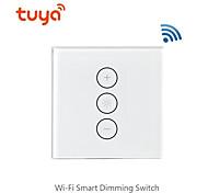 economico -dimmer intelligente / supporto interruttore / telecomando app mobile / supporto controllo vocale alexa / interruttore dimmer wifi per soggiorno / studio / luce led camera da letto / creativo / uso
