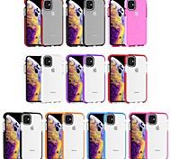 economico -telefono Custodia Per Apple Per retro iPhone 11 iPhone 11 Pro iPhone 11 Pro Max iPhone SE 2020 Resistente agli urti Transparente Tinta unica TPU
