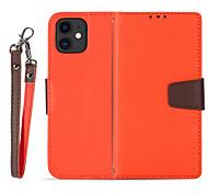 economico -telefono Custodia Per Apple Integrale Custodia in pelle iPhone 11 Pro Max SE 2020 X XR XS Max 8 7 6 Porta-carte di credito Resistente agli urti Tinta unica pelle sintetica