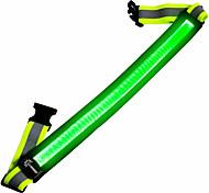 abordables -Ceinture réfléchissante LED Rechargeable USB Lumineux pour Course Cyclisme Le jogging Tissu Rouge Bleu Vert Rechargeable USB