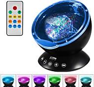 abordables -1 pcs version améliorée télécommande coloré lampe de projection vague sommeil lumière multifonction ciel océan étoile projecteur lampe lampes
