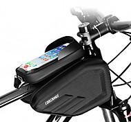 economico -Borsa per cellulare Marsupio triangolare da telaio bici 6.0/6.2 pollice Doppio IPouch Foro per cuffia Resistente all'acqua Ciclismo per iPhone 7 iPhone 8 Plus / 7 Plus / 6S Plus / 6 Plus iPhone X Nero