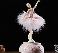 abordables -Boîte à musique Boîte à musique ballerine Boîte à musique en bois Boîte à musique antique Danseur de boîte à musique Nouveauté Vacances Rétro Créatif Unique Résine Femme Tous Fille Enfant Adultes 1