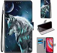 abordables -cas de téléphone pour xiaomi redmi note 8 pro redmi note 8 redmi note 8t porte-carte portefeuille avec support pensif loup en cuir pour redmi note 7 mi cc9 pro redmi 8 redmi k30 redmi 8a