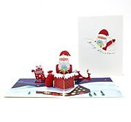 abordables -stéréo carte de Noël faits à la main avec de la musique (couleur aléatoire)
