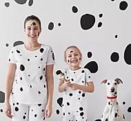 abordables -Maman et moi Lots de Vêtements pour Famille Ensemble de Vêtements Géométrique Blanche