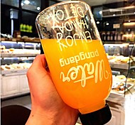 abordables -600 ml espace sports bouteille d'eau jus de citron fruits fruits bouteille en plastique verres