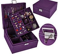 economico -Quadrato Scatola di gioielli - Nero, Rosso, Blu 20.5 cm 20.5 cm 11 cm / Per donna