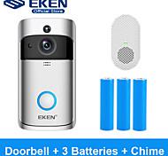 economico -Campanello video smart wifi eken v5 con batteria 3 * 18650 e 1 * carillon
