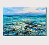 abordables -Peinture à l'huile Hang-peint Peint à la main Panoramique horizontal Abstrait Paysage Contemporain Moderne Inclure cadre intérieur