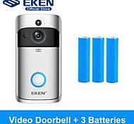economico -Campanello video smart wifi eken v5 con batteria 3 * 18650