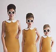 abordables -Maman et moi Lots de Vêtements pour Famille Le maillot de corps Couleur Pleine Jaune