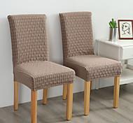 abordables -Housse de chaise Couleur Pleine Jacquard Polyester Literie
