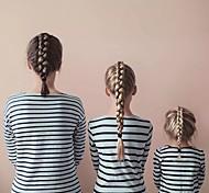 abordables -Maman et moi Lots de Vêtements pour Famille Tee-shirts Rayé Bleu clair