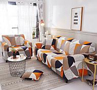 abordables -impression géométrique 1 pièce housse de canapé housse de canapé protecteur de meubles housse extensible douce tissu jacquard spandex super fit pour canapé 1 ~ 4 coussin et canapé en forme de l,
