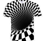 abordables -Regard de la famille Lots de Vêtements pour Famille Tee-shirts Géométrique Manches Courtes Imprimé Blanche Noir Nouvel an