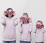 abordables -Maman et moi Lots de Vêtements pour Famille Tee-shirts Couleur Pleine Violet