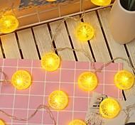 economico -3M Fili luminosi 20 LED 1 set Bianco caldo Decorativo Batterie AA alimentate