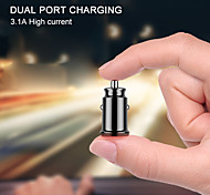economico -Adattatore per caricabatteria da auto mini usb 3.1a con display a led digitale caricatore da auto universale doppio telefono usb per samsung iphone 7 plus 6 5s