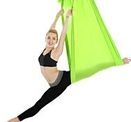 abordables -Tissu en soie pour hamac de yoga aérien Des sports Chinlon Pilates d'inversion Trapèze de yoga antigravité Balançoire sensorielle Antigravité Ultra Forte Durable Anti-déchirure Traitement d'Inversion
