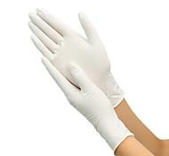 abordables -100pcs gants en latex jetables gants en caoutchouc gants de nettoyage gants de travail