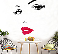 abordables -sexy hepburn lèvres rouges stickers muraux marilyn monroe visage yeux rouge lèvres stickers muraux art mural décor à la maison stickers muraux