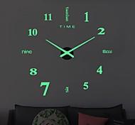 abordables -horloge murale horloges design moderne montre numérique grand grand 3d bricolage décor à la maison lumineux luminova miroir autocollant
