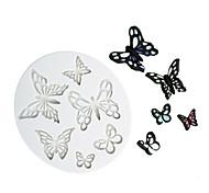 abordables -forme différente papillon motif chocolat moule fondant gâteau moule en silicone outils de cuisson à domicile