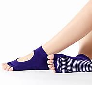 abordables -Accessoires de Danse Sportif / Yoga Femme Coton Couleur Unie Chaussettes