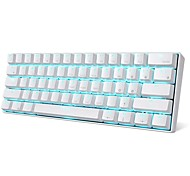 abordables -RK ROYAL KLUDGE RK61 Bluetooth sans fil USB filaire double mode clavier mécanique Clavier de jeu Interrupteurs RK Mini taille Rechargeable rétro-éclairage monochromatique / Bleu rétro-éclairé 61 pcs
