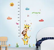 abordables -Enfants hauteur graphique sticker mural décor dessin animé girafe singe règle de la hauteur stickers muraux décoration de la maison décoration murale art autocollant affiche