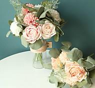 economico -fiori artificiali 12 rami classico moderno contemporaneo stile semplice rose ortensie piante fiore da tavolo 20 * 35 cm