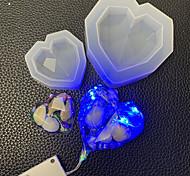 economico -1pc specchio geometrico amore stampo in silicone diamante a forma di cuore ornamento