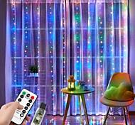 abordables -3x2m fenêtre rideau guirlande lumineuse 200 LED 8 modes d'éclairage lumières de décoration de noël lumières de fenêtre pour chambre fête de mariage maison intérieur extérieur étanche