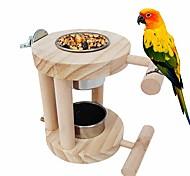 economico -cibo per pappagalli in acciaio inossidabile&gabbia d'acqua ciotole posatoi per uccelli accessori gabbia per pappagallini budiches fiches piccioncini
