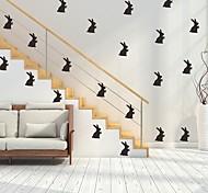 abordables -lapin pâques stickers muraux avion stickers muraux stickers muraux décoratifs, pvc décoration de la maison sticker mural décoration murale 1 pc 56 * 30 cm