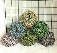 abordables -1 pcs herbe boule simulation fleur décoration de la maison mur plante mur