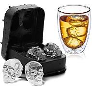economico -4 cubetti di ghiaccio palla teschio fai da te silicone cranio ghiacciaia stampo in silicone fai da te fatti in casa per party bar halloween