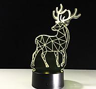 abordables -créatif orignal 3d veilleuse cadeau de noël lampe de table nouvel éclairage à distance tactile interrupteur 3d lampe lampe de table