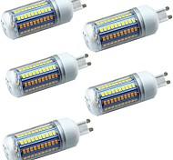economico -5 pezzi 5 W LED a pannocchia Luci LED Bi-pin 600 lm E14 G9 GU10 T 102 Perline LED SMD 2835 Decorativo Bianco caldo Bianco 220-240 V