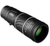 economico -portatile 16 x 52 sopra binocolo telescopio monoculare binocolo 66 / 8000m plastica telescopio sportivo nero esterno
