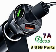 economico -ricarica rapida qc3.0 caricatore per auto 3 porte usb adattatore per accendisigari per auto per iphone samsung huawei xiaomi qc ricarica per telefono auto