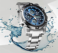 abordables -ASJ Homme Montre de Sport Montre Analogique - Digitale Numérique Quartz Mode Etanche Chronographe LCD / Acier Inoxydable / Japonais / Deux ans