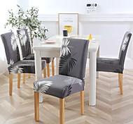 abordables -Housse de chaise Plantes / Moderne Imprimé Polyester Literie