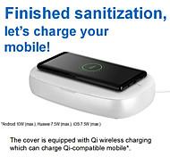 economico -Sterilizzatore per telefoni cellulari Per Anti-Odore Disinfezione Con caricatore wireless Disinfezione UV ABS + PC